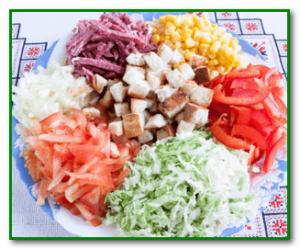 Причины отравления салатом