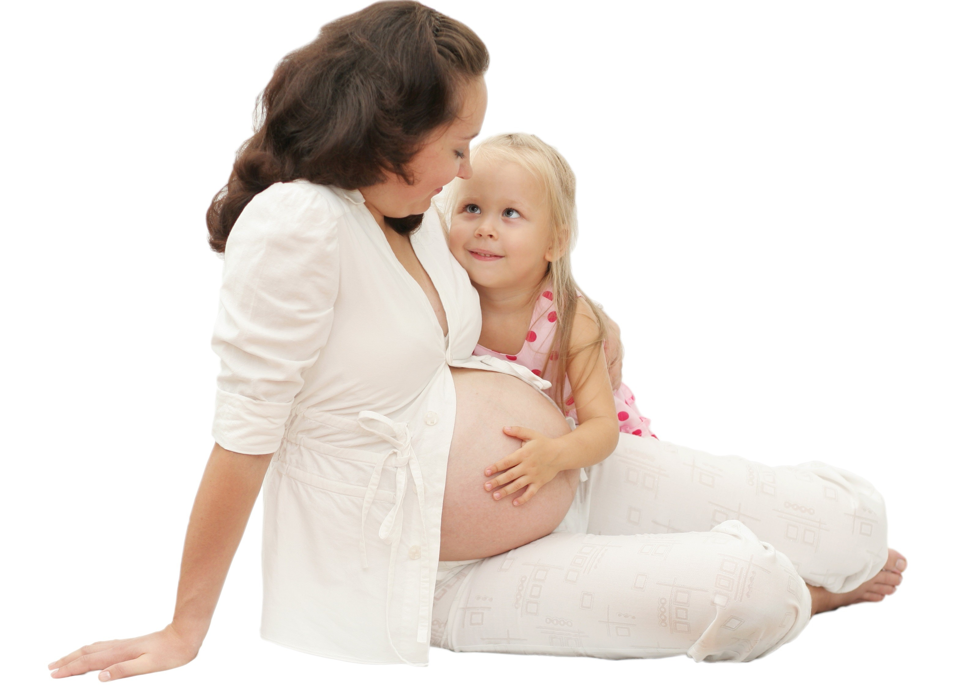 ребенок и беременная